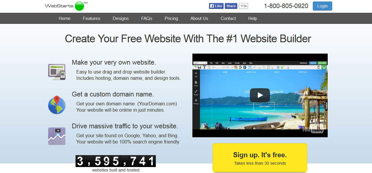Webstarts Online Free Website Builder