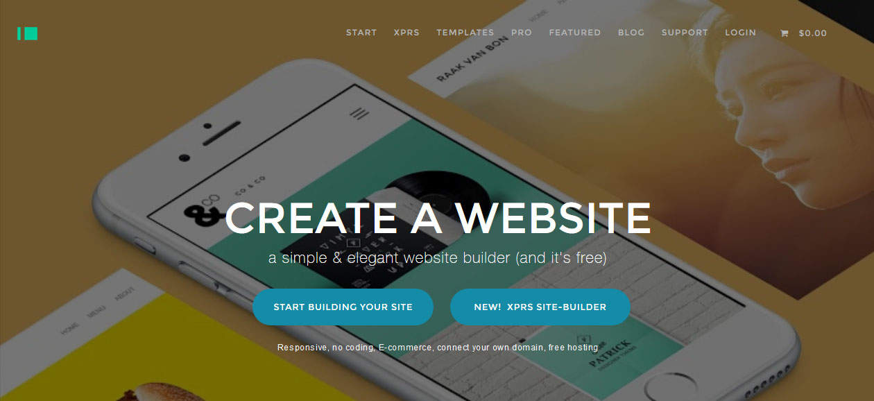 Imcreator Online Free Website Builder