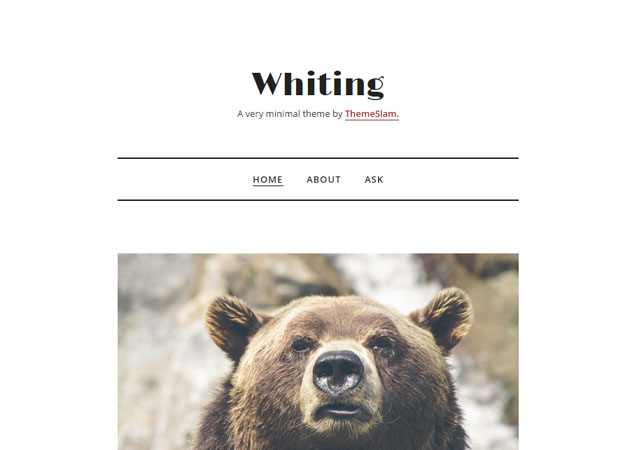 Whiting free tumblr theme