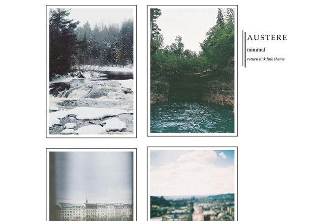 Austere free tumblr theme