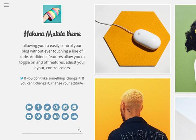 Hakuna Matata free tumblr theme