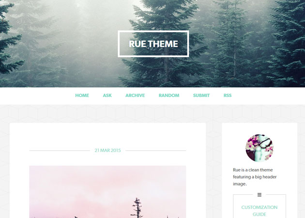 Rue free tumblr theme
