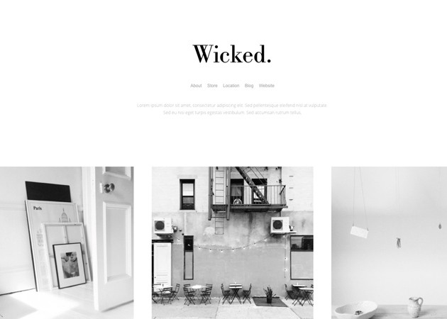 Wicked free tumblr theme