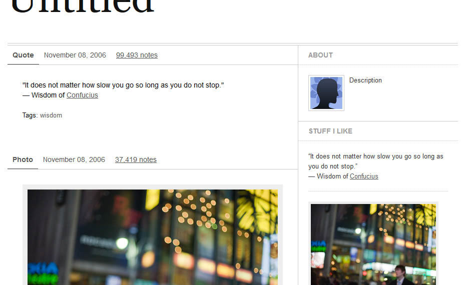 Minimal free tumblr theme