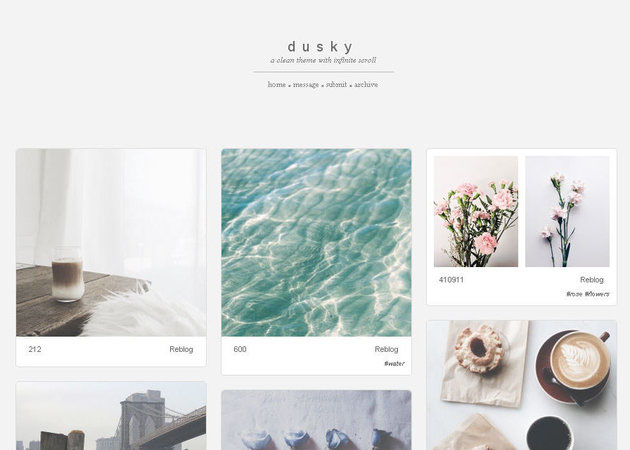 Dusky free tumblr theme