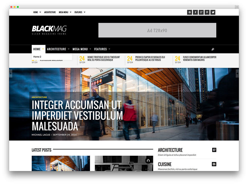 BlackMag SEO optimized wordpress theme