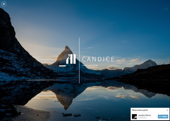 Candice – Single Column free tubmlr theme