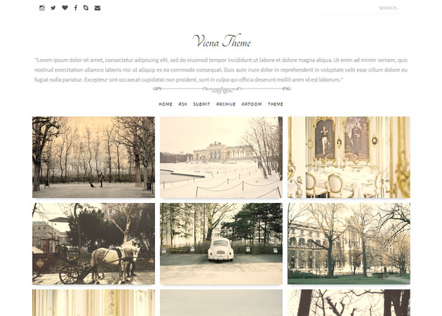 Viena free tumblr theme