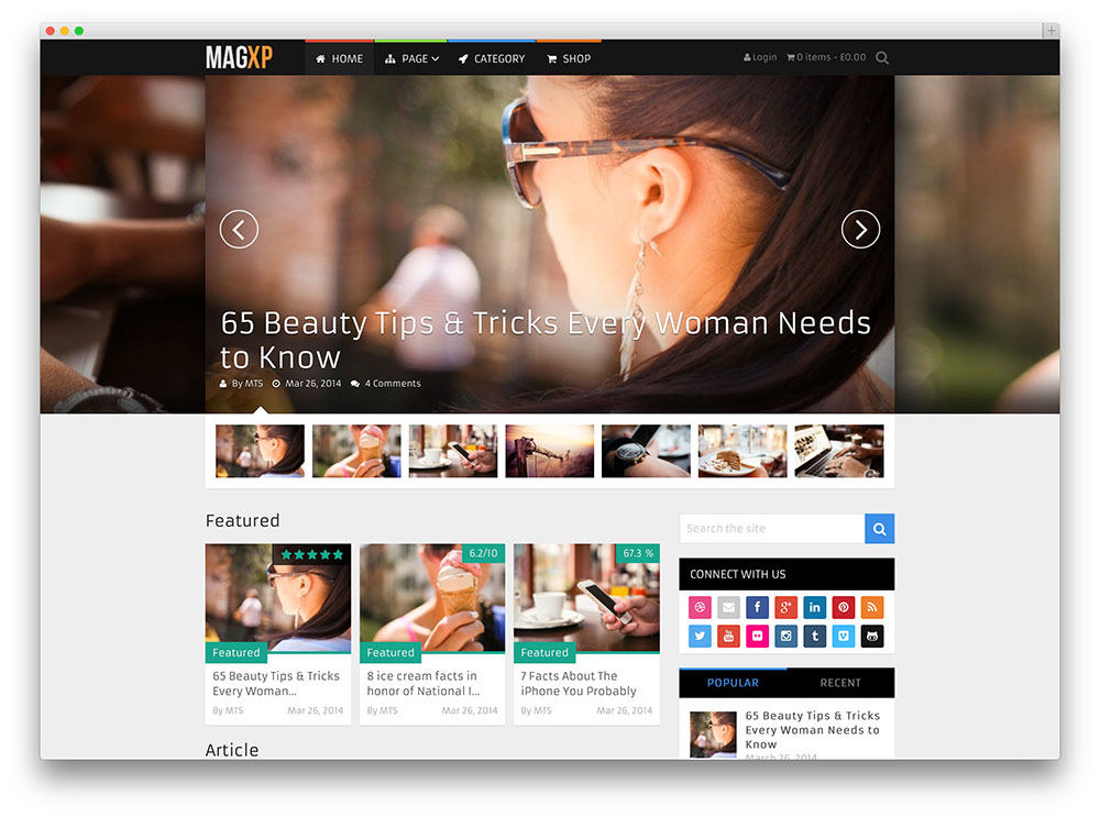 MagXP SEO friendly wordpress theme