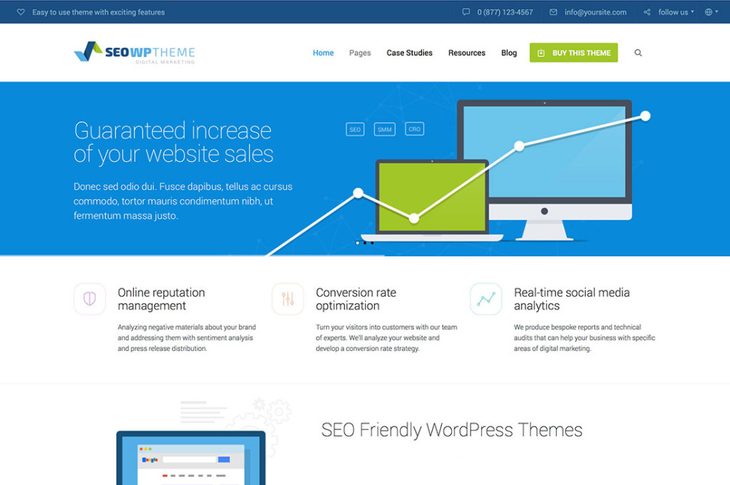SEO WP SEO optimized wordpress theme
