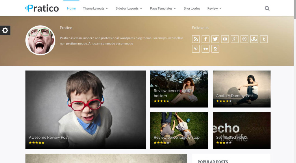 Pratico SEO friendly wordpress theme