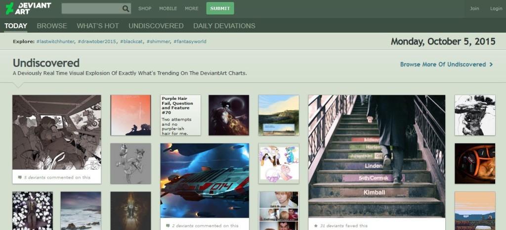 DeviantART Free Image Sharing Websites