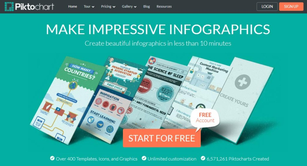 PiktoChart to create your own Inforgraphics