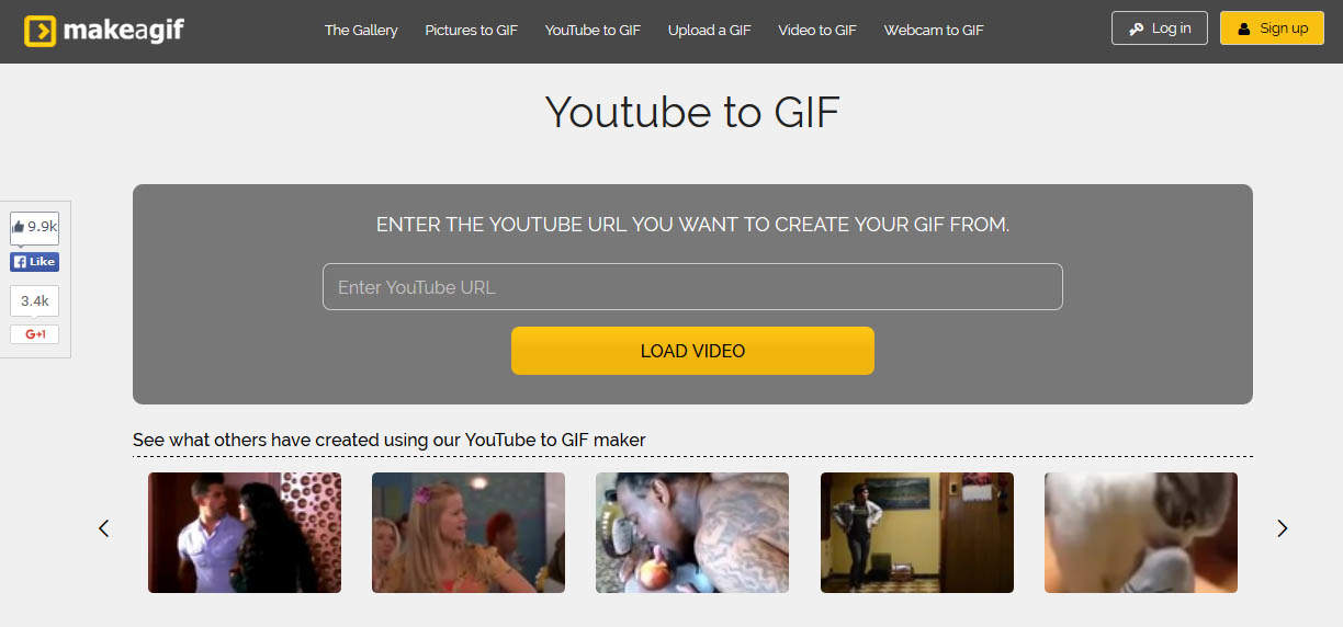 how to make gifs online from youtube videos