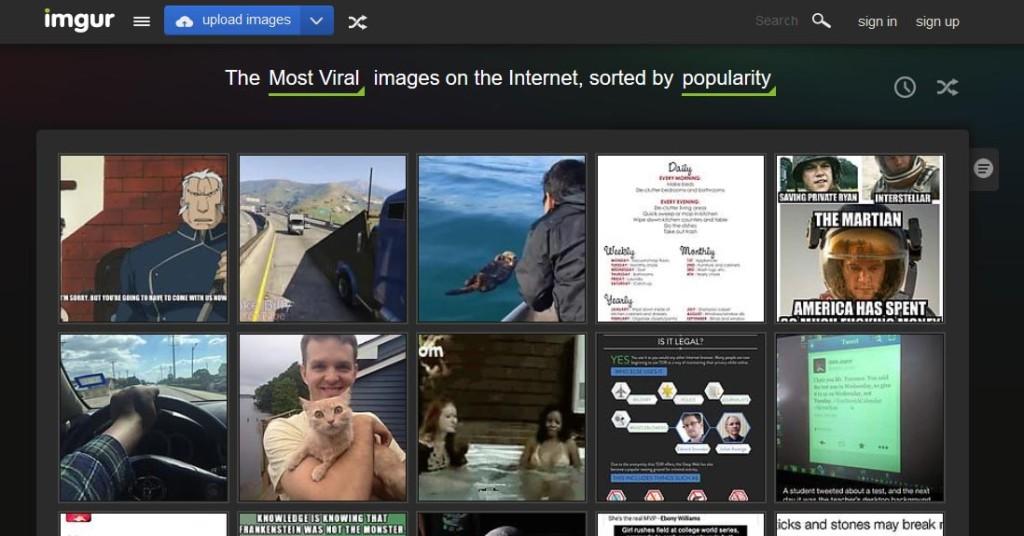 Imgur Free Image Sharing Websites