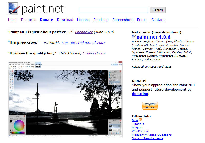 Paint.NET an advance image editor tool