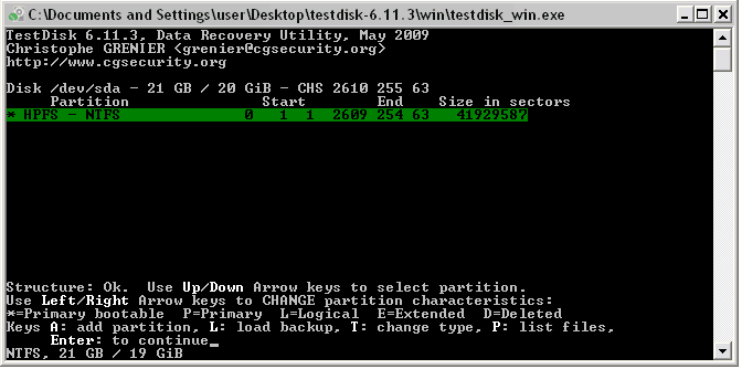 TestDisk Best recovery software 2016