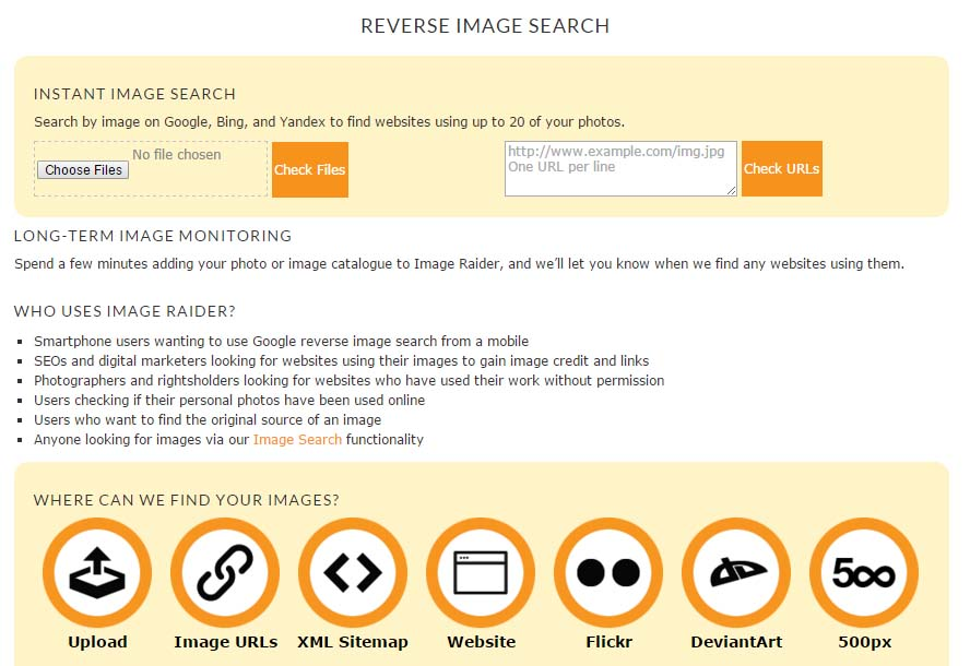 Reverse Image Search Dating Site