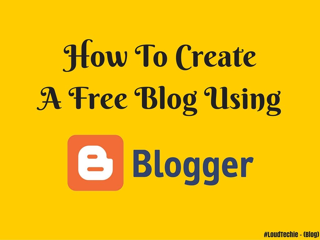 how to write a blog for free