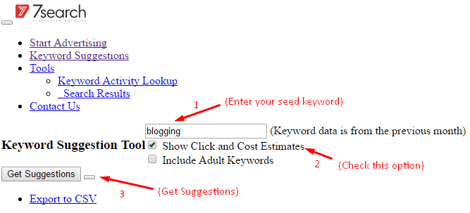 Find long tail keyword Using 7Search