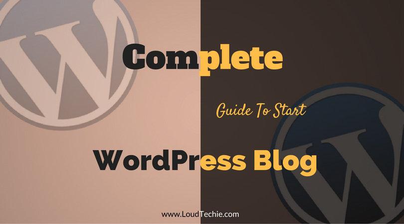 how to start a wordpress blog youtube