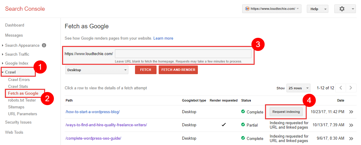 How To Ask Google To Recrawl & Reindex Your Updated Old Blog Posts