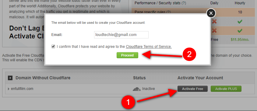 Activate Free CDN in SiteGround