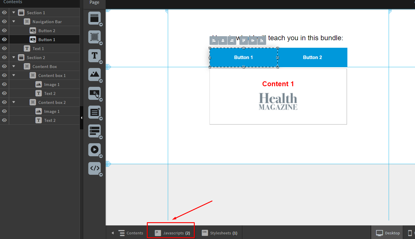 How To Create Tabbed Sections in Unbounce